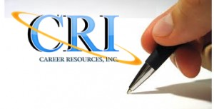 Career Resources Affirmative Action Plan Provider logo and pen writing on paper.