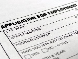 Image of a job application for a federal contractor under affirmative action responsibilities