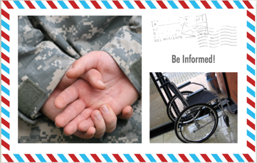Image of Veteran and a wheel chair. Federal Contractors must ask employees to Self-ID. VEVRAA and Section 503